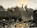 Odstrojený kotel lokomotivy 556.0