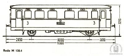 Schéma motorového vozu M130.4
