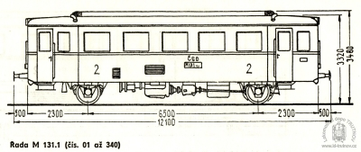 Schéma motorového vozu M131.1