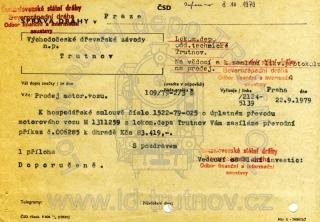 Průvodní dopis k hospodářské smlouvě na M131.1259