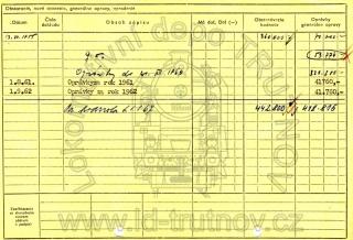 Inventární karta motorového vozu M131.1199