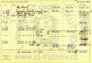 Inventární karta motorového vozu M131.1125