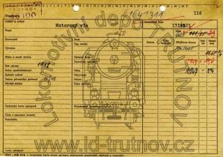 Inventární karta motorového vozu M131.121