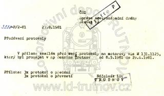 Předávací protokoly - M131.1125