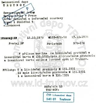 Prodej základního prostředku - M131.1531