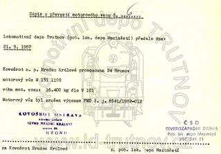Zápis o převzetí - M131.1199