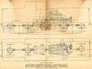 Náčrtek uspořádání pohonu motorové lokomotivy T444.02