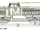 Náčrtek sériových motorových lokomotiv T444.0
