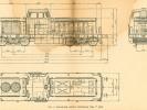 Rozměrový náčrtek sériových motorových lokomotiv T444.0