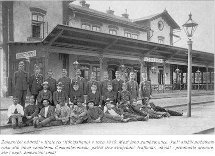 Již v nejstarší historii našich železnic se objevuje jméno