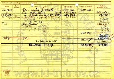Inventární karta parní lokomotivy 434.294