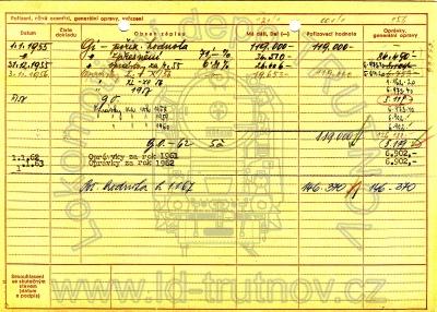 Inventární karta tendru 516.0166