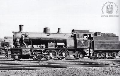 Parní lokomotiva 354.801 s tendrem 415.301