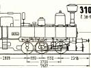 Schéma lokomotivy řady 310.038 - 310.0138