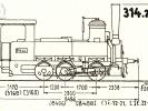 Schéma lokomotivy řady 314.2