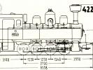 Schéma lokomotivy řady 422.0