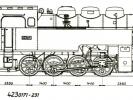 Výkres lokomotiv řady 423.0171-0231