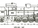Výkres lokomotivy řady 434.1132-1145 a tendru řady 516.0