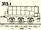 Schéma tendru řady 313.1