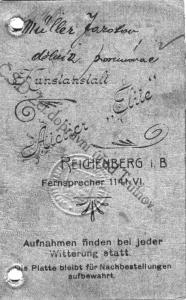 Müller Antonin - průkazka